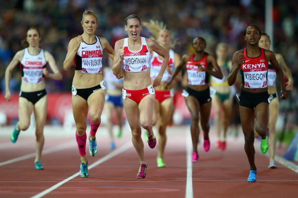 The thrilling conclusion to the women's 1,500m  ©Getty Images