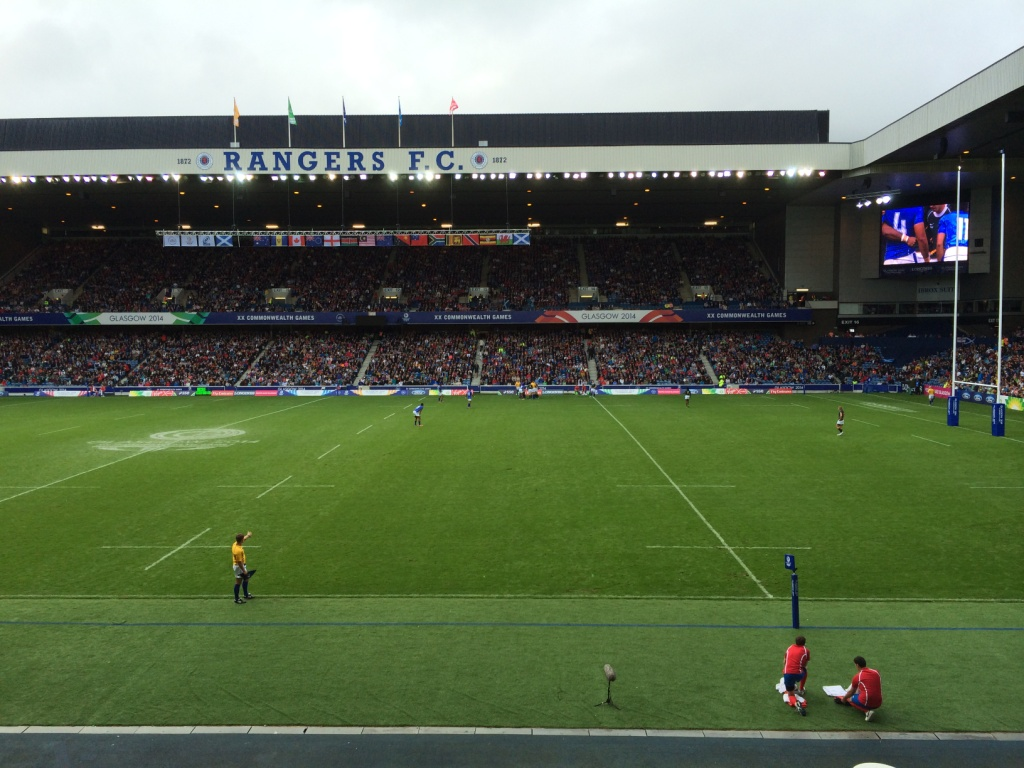 The view from Ibrox