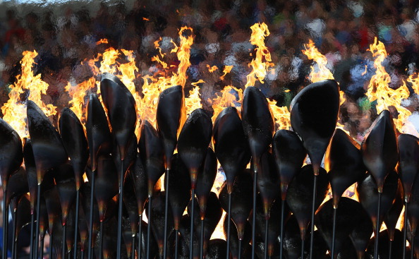 "Thomas Heatherwick's design for the London 2012 Olympic Cauldron featured 204 individual ""petals"" - one for each participating nation ©Getty Images"