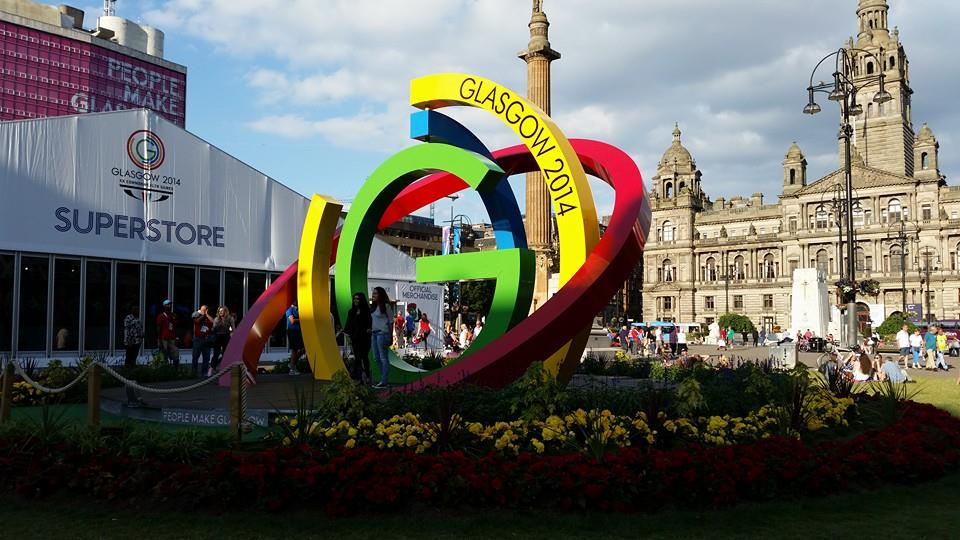Glasgow 2014 superstore in George Square