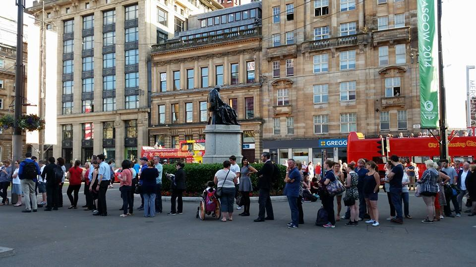 Glasgow 2014 ticket queues
