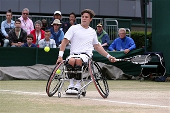 Gordon Reid was in imperious form as he won in Nottingham without dropping a game on the first day of the British Open ©Getty Images
