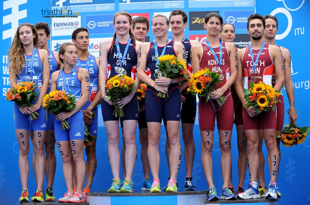 Great Britain has secured its third triathlon mixed relay world title ©ITU