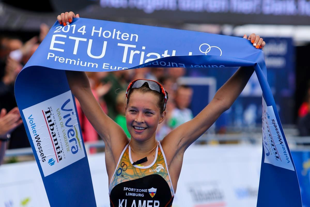 Home athlete Rachel Klamer has won the Holten European Cup ©European Triathlon Union