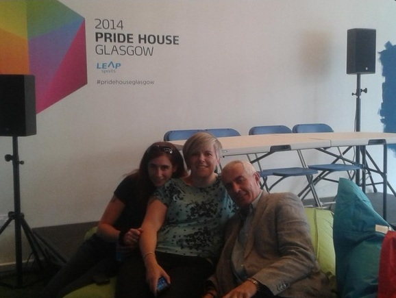 Ian Braid and Lou Englefield will join a panel discussion on LGBTQI Rights and Wrongs at Pride House Glasgow today ©Twitter