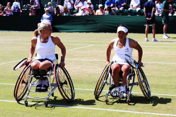 Jordanne Whiley and Yui Kamiji are through to the final of the women's wheelchair doubles at Wimbledon ©Getty Images