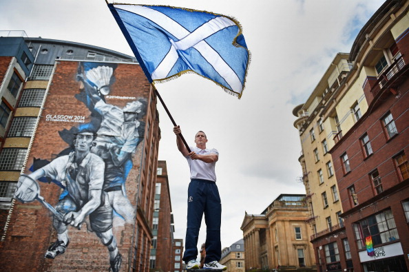 Judo player Euan Burton was announced as the Scottish Flagbearer for Glasgow 2014 ©Getty Images