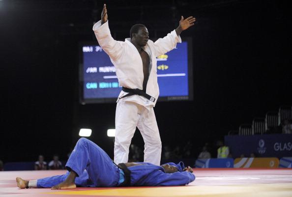 Judoka Boas Munyonga has won the only Zambian medal of Glasgow 2014 so far ©AFP/Getty Images