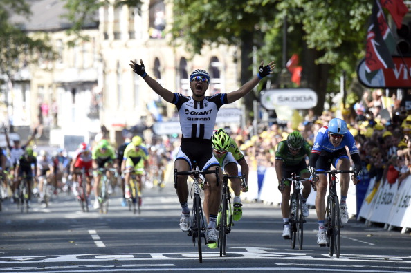Marcel Kittel continued the form he showed at the 2013 Tour de France by winning Stage One in Yorkshire ©AFP/Getty Images