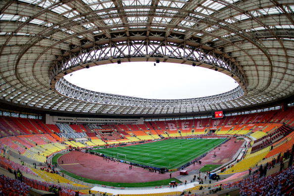 Matches will take place across Russia, including at the Luzhniki Stadium in Moscow in which the 1980 Olympics and the 2008 Champions League Final were held ©Getty Images
