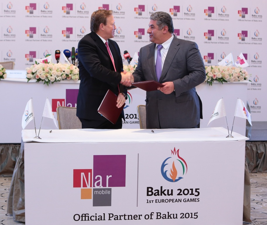 Nar Mobile has been named official mobile telecommunications service provider for the Baku 2015 European Games ©Baku 2015