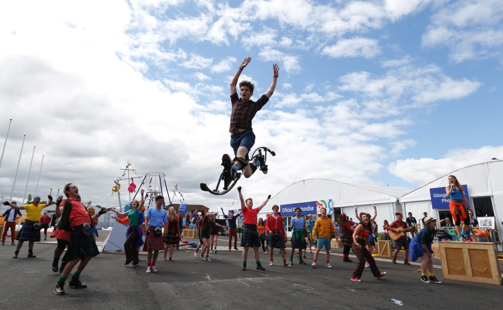 National Youth Theatre of GB performer Jay Jones in the Glasgow 2014 Village Ceremonies Getty Images