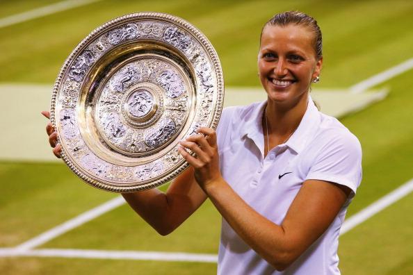 Petra Kvitova has won the Wimbledon women's singles title ©Getty Images