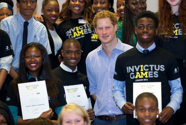 Prince Harry paid a visit to students participating in a social media training day ahead of the Invictus Games in September ©Getty Images