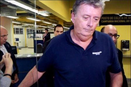 "Ray Whelan has now handed himself in to Brazilian police after being branded a ""fugitive"" last week ©Twitter"