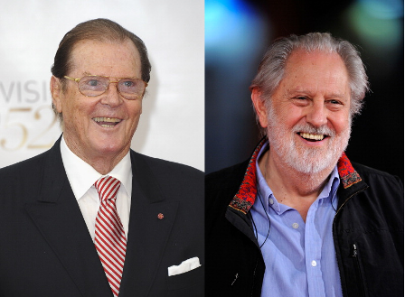 Roger Moore left and David Puttnam are at this morning's media briefing ©Getty Images