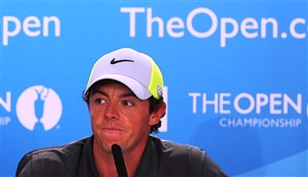 Rory McIlroy will be content tonight as he leads the Open Championship by four shots ©Getty Images