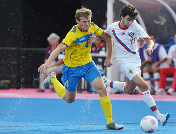 Russia played Ukraine in the Paralympic final at London 2012 ©AFP/Getty Images