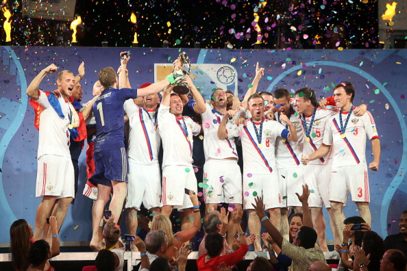 Russia will be seeking a repeat of their two World Cup victories in Baku ©AFP/Getty Images