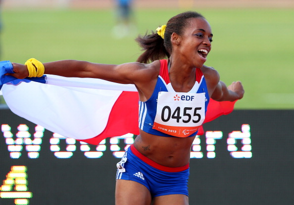 T37 sprinter Mandy Francois-Elie won 100 and 200m titles at the 2013 IPC World Championships in Lyon ©Getty Images