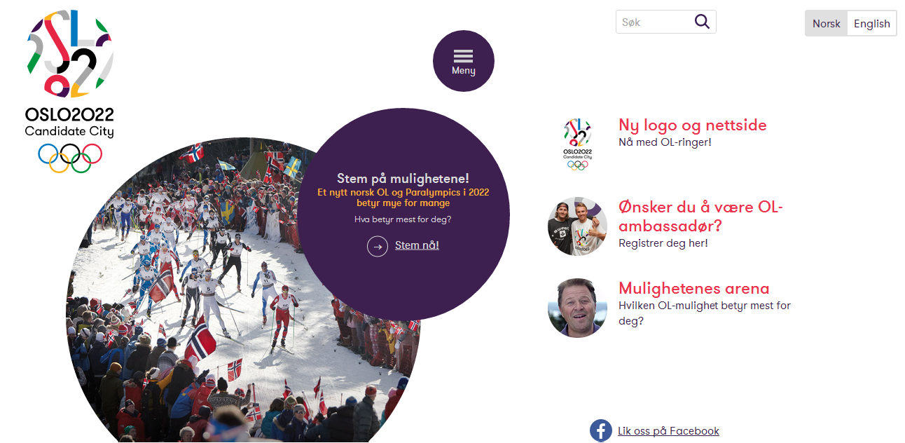 """The Oslo 2022 website has undergone an """"extensive upgrade"""" after being shortlisted last week as a Candidate City ©Oslo 2022"""