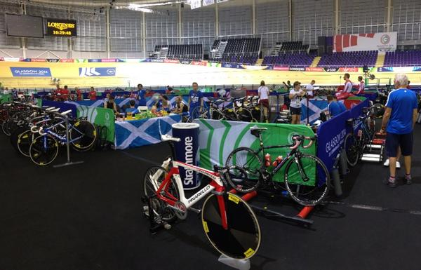 The penultimate day of training at the Sir Chris Hoy Velodrome ©Kevin Stewart/Twitter