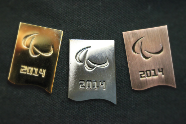 The pins will be awarded to every Sochi 2014 medallist and will become a mainstay of future Paralympic Games ©IPC
