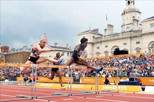 Tiffany Porter enjoyed a superb victory over a strong field at the Sainsburys Anniversary Games ©UK Athletics
