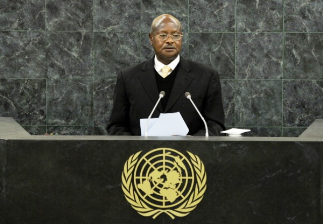 Ugandan President Yoweri Museveni has passed laws banning homosexuality in the country ©Getty Images