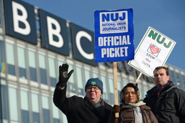 Unions say their members at the BBC are unhappy at the terms on offer in the broadcaster's latest pay review ©Getty Images