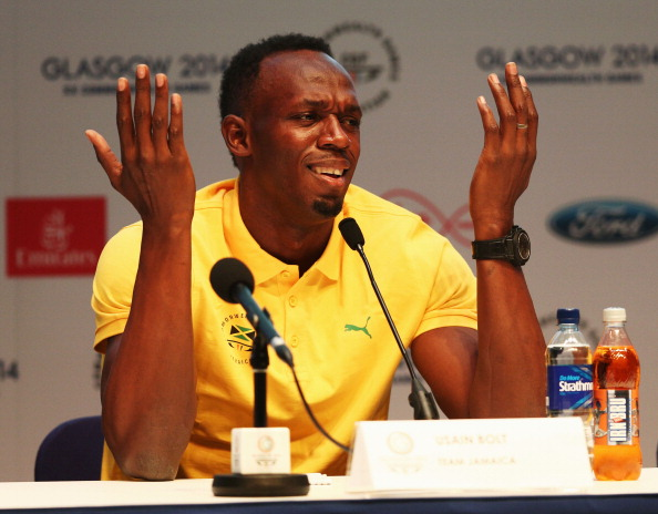 Usain Bolt is surely the biggest attraction of Glasgow 2014 ©Getty Images