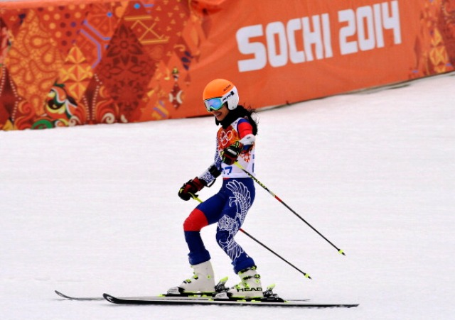 Vanessa Mae finished last in the giant slalom competition at Sochi 2014 ©Getty Images