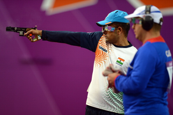 Vijay Kumar, pictured at London 2012, will carry the Indian flag at the Opening Ceremony ©Getty Images