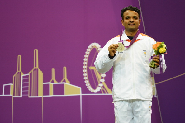 Vijay Kumar took silver in the 25m rapid fire pistol event at London 2012 ©Getty Images