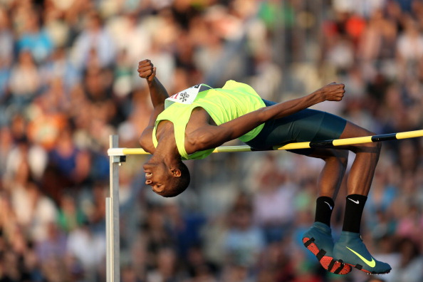 Qatar'sworld indoor high jump champion Mutaz Essa Barshim, pictured in action at this month's IAAF Diamond League meerting in Lausanne, is one of six men competing in Monaco who have cleared 2.40m or over ©Getty Images