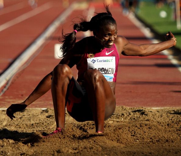 Caterine Ibarguen of Colombia, who produced a triple jump of 5.31, the best seen for six years, to win at the IAAF Diamond League meeting in Monaco ©Getty Images