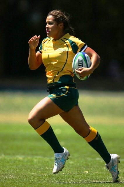 Tiana Penitani will be one of the stars of the Australian women's rugby sevens side at Nanjing 2014 ©Getty Images