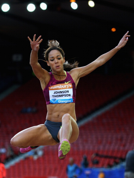 Britain's Katarina Johnson-Thompson finished second in the long jump at the Glasgow Diamond League meeting with a personal best of 6.92m ©Getty Images