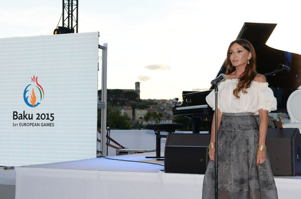 Azerbaijan's First Lady Mehriban Aliyeva has promoted the inaugural European Games in Baku during a trip to Cannes ©Baku 2015