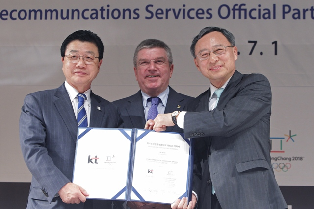 Pyeongchang 2018 has signed up telecommunications company KT Corporation as its first major sponsor ©Getty Images