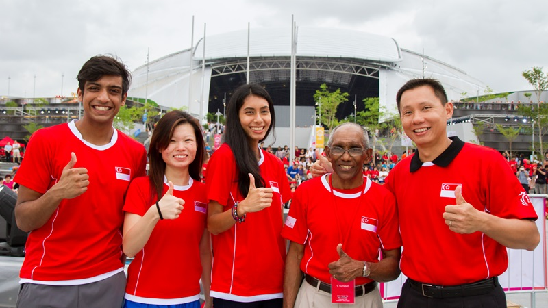 Athletes gave the Singapore Sports Hub the thumbs-up ©Singapore Sport