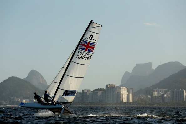 A sailing test event is currently being held to coincide with the two years to go celebrations ©Getty Images