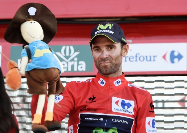 Alejandre Valverde triumphed in the battle of the big guns on stage six of the Vuelta a España ©AFP/Getty Images