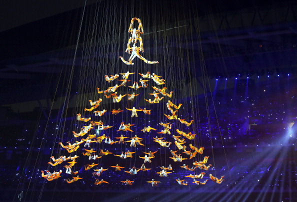 An aerial display during the Opening Ceremony ©Getty Images