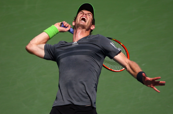 Andy Murray battled cramp to advance to the second round in four sets ©Getty Images