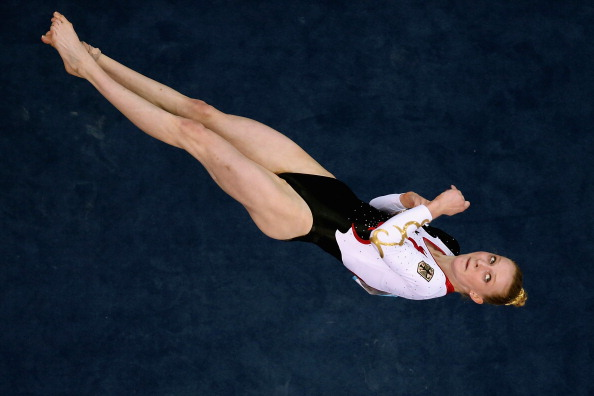Antonia Alicke of Germany missed out on a medal in the women's floor final, finishing in fifth place ©Getty Images
