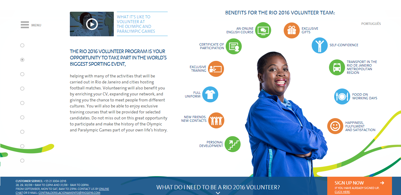 Applications to volunteer at Rio 2016 are now being invited ©Rio 2016