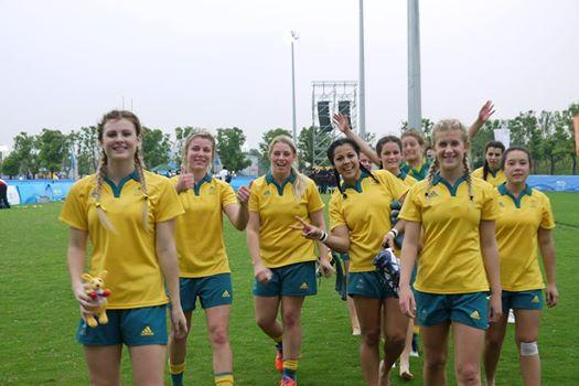 Australia's rugby sevens team are on course for gold in Nanjing ©Twitter