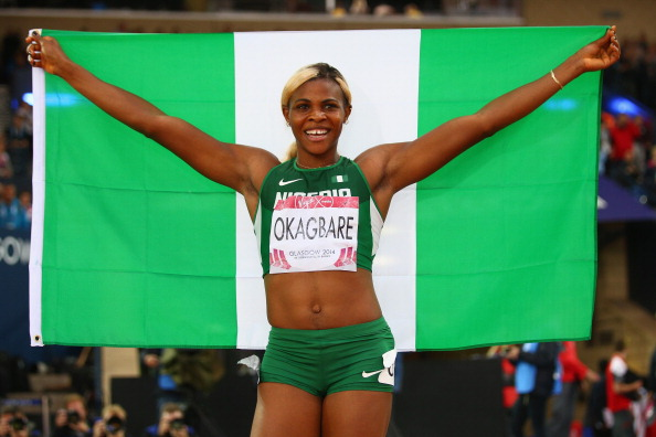 Blessing Okagbare is now the African 100 metres champion, as well as the Commonwealth Games champion ©Getty Images