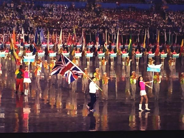 British Flagbearer Jake Saywell ©Twitter